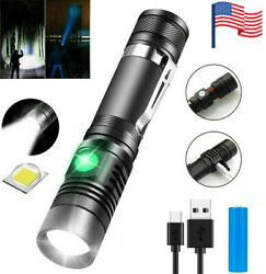 Super Bright 90000LM LED Tactical Flashlights Zoomable With Rechargeable Battery $9.95