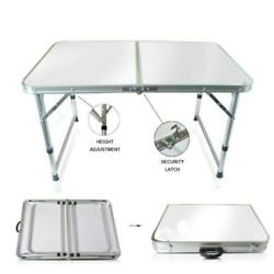 Aluminum Folding Table 4#x27;Portable Indoor Outdoor Picnic Party Camping Tables NEW $16.99
