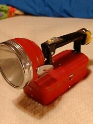 Vintage Collectible Red Lantern Style Flashlight Swivel Lamp Signal parts only $15.50