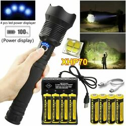 USA 990000 Lumens Zoom XHP70 LED Flashlight Super Bright USB Rechargeable Torch $15.08