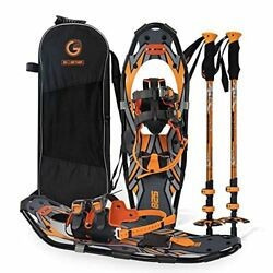 G2 21 Inches Orange Light Weight Snowshoes for Women Men Youth Set with Tote Ba $151.52