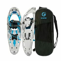 G2 25 Inches Blue Light Weight Snowshoes for Women Men Youth Set with Tote Bag $136.14