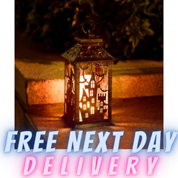 Halloween Lanterns with Candle Decorative Hanging Lights with Timer Function New $27.79
