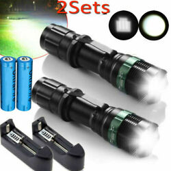 350000Lumens Tactical Zoomable Focus LED Flashlight Super Bright Torch Light USA $14.89