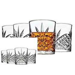 Double Old Fashioned Glasses Waterford Markham Scotch Whiskey Crystal Set of 4 $27.09