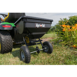 85 Lb Behind Broadcast Spreader Tow Hopper Fertilizer Seed Atv Lawn Tractor Pull $85.99