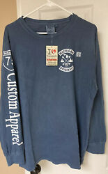 Frankenmuth Michigan T Shirt Long Sleeve US Vintage Large Blue New $15.00