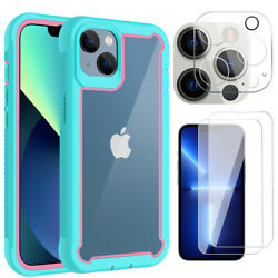 For iPhone 13 Pro Max 13 Pro 12 Pro Case Clear Crystal Cover Screen Protector $9.96