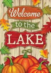 Welcome to the Lake Fall Leaves Garden Flag 12quot;x18quot; Custom Decor 2 Sided $11.95