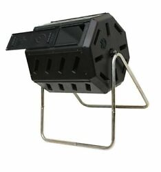 FCMP Outdoor IM4000 37 Gal Dual Chamber Quick Curing Tumbling Composter Soil Bin $98.99