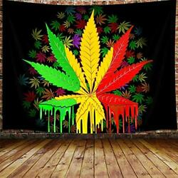 Marijuana Leaf Tapestry Weed Psychedelic Tapestry Wall Hanging for Bedroom Reg $20.75