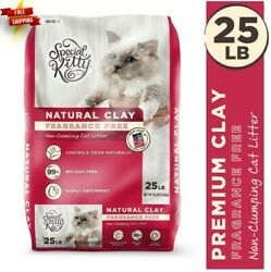 Special Kitty Fragrance Free Natural Clay Non Clumping Cat Litter 25 lb $5.99