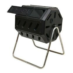 FCMP Outdoor IM4000 37 Gal Dual Chamber Quick Curing Tumbling Composter Soil Bin $100.00