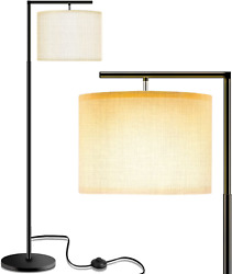 Floor Lamp for Living Room LED Floor Lamps with Linen Lamp Shade Modern Lamps $53.50