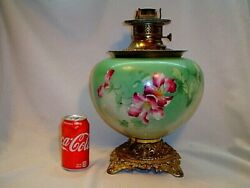 ANTIQUE THE NEW COLUMBIA LAMP OIL LAMP BASE AND BURNER FONT $95.00