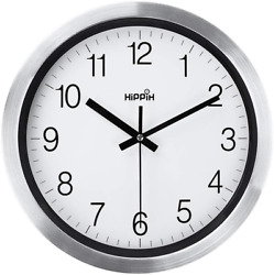 Silent Wall Clock 12 Inch Battery Operated Non Ticking Large Decorative Quiet C $25.99