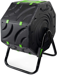 Compost Bin For Outdoors Ouside 19 Gallon Small Tumbling Composting Bin $90.99