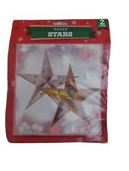 19cm Hanging Gold and Silver Christmas Paper Star GBP 3.50