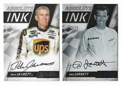 dale and ned jarrett 2017 panini absolute ink autograph cards quot;mintquot; $9.95
