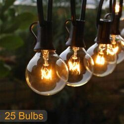 50FT Outdoor String Lights Waterproof Commercial Patio Globe Fairy Light Bulbs