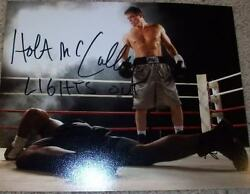 HOLT MCCALLANY SIGNED AUTOGRAPH FX LIGHTS OUT 8x10 PHOTO A wPROOF