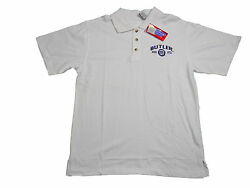 BUTLER BULLDOGS ADULT WHITE EMBROIDERED POLO SHIRT NWT