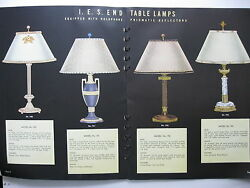 TWO 1937 TERRY DURIN COMPANY TABLE amp; FLOOR LAMPS LIGHTING CATALOG CATALOGS $80.00