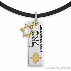 Stainless Steel Star of David Magen Pendant Power of Prosperity Judaica Necklace