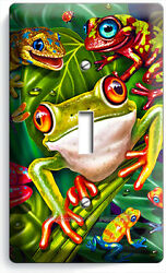CUTE EXOTIC RAINFOREST TROPICAL TREE FROGS SINGLE LIGHT SWITCH WALL PLATE COVER $10.99