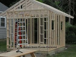 Custom Design Shed Plans 6x8 Gable Storage DIY Instructions and Blueprints