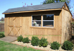 Custom Design Shed Plans 10x20 Gable Garden Easy Step by Step Instructions CD