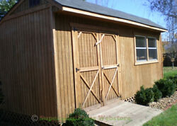 Custom Design Shed Plans 12x16 Gable Storage DIY Wood Shed Plans Set on CD