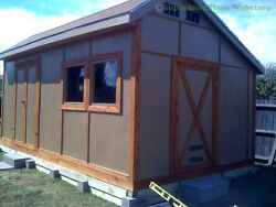 Custom Design Shed Plans 8x12 Gambrel Wood Backyard Shed Building Plans