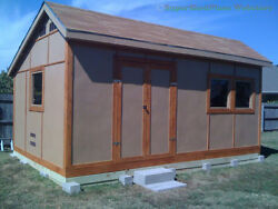 Custom Design Shed Plans 8x8 Gambrel Wood Total Shed Building Instructions CD