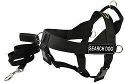 Dean & Tyler DT Universal No Pull Dog Harness with Patches and Matching 6' Leash