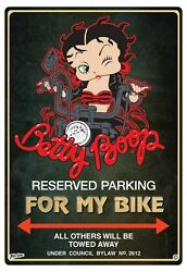 BETTY BOOP BIKER PARKING SIGN For my bike BETTY BOOP PARKING SIGN SHE SHED SIGN