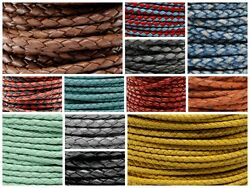 Genuine Round Bolo Braided Leather Cord 3 MM 18