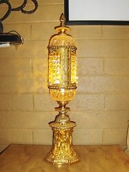 Stunning 26quot; Gold and Crystal Antique Lamp :D :D :D $375.00