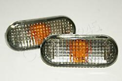 VW Passat B4 Polo Classic Caddy 1995 2001 Crystal Side Marker Lights Lamps Pair $15.95