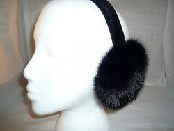 Real Black Mink Fur Earmuffs New Made in the USA $49.95