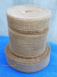 Natural Jute Burlap Hessian Ribbon Trims Scrim Tape Rustic DIY Wedding Floristry GBP 49.99