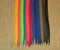 WAXED Cotton Dress Shoe Round SHOELACES! 24 30 36 Inch Colored Shoe Lace Strings