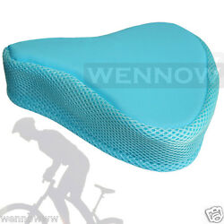 Blue 8×9 inch Bike Bicycle Comfortable Soft Saddle Seat Cover $7.98