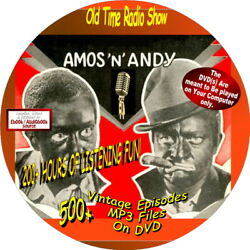 Amos and Andy-700+ Old Time Radio Shows (COMEDYHUMOR)-Audiobook on DVDs MP3