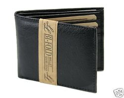 New Mens Bifold Genuine Leather Wallet Multi Credit Card ID License Slim Black $7.99