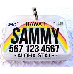 Hawaii novelty state car license plate dog cat custom tag for pets by ID4PET $13.95