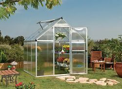 Palram 6' x 6' Mythos Hobby Greenhouse Kit - Silver (model HG5006)