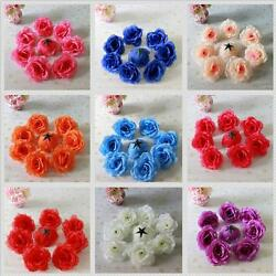 Artificial Silk Roses Flower Heads Party Wedding Flower Decor 20X 50X 100X 500X