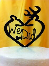 We Did Deer  Buck and Doe Wedding Cake Topper  MADE In USA…..Ships from USA