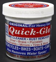 Quick Glo Original Heavy Use Chrome Cleaner Rust Remover for Bikes Cars Boat 8oz $14.95